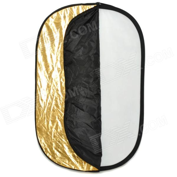 Elliptic 5-in-1 Folding Large Flash Reflector Board - White + Golden