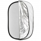 Elliptic 5-em-1 Folding Grande do Flash Reflector Board - Branco + Dourado