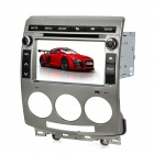 "7"" Touch Screen Dual Din Car DVD Player w/ Bluetooth / GPS / FM / Ipod / Subwoofer Output - Grey"