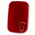 External 2600mAh Battery + Hand Warmer w/ LED Flashlight for Samsung / Iphone / Ipad - Red