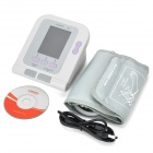 "08A 2.8"" LCD Color Screen Display Electric Sphygmomanometer - White (4 x AA)"