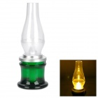 390 Nostalgic Rechargeable 3W Blowing Control LED Yellow Light Lamp - Green
