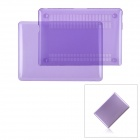 "Protective Frosting PC Front & Back Case for Apple MacBook Pro 13.3"" Laptop - Transparent Purple"