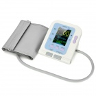 "08C 2.8"" LCD Digital Screen Display Electronic Sphygmomanometer - White (4 x AA)"