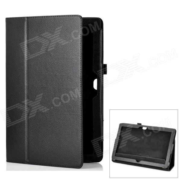 Protective Genuine Leather Case Stand for Microsoft Surface RT - Black microsoft surface book