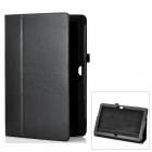 Protective Genuine Leather Case Stand for Microsoft Surface RT - Black