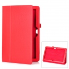 Protective Genuine Leather Case Stand for Microsoft Surface RT - Red