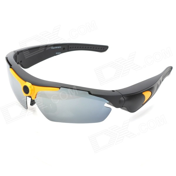 M064 5.0MP 720P Wide-Angle Sports Sunglasses Camcorder w/ TF - Black + Yellow