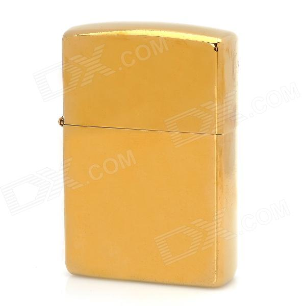 Stylish Copper Fuel Lighter - Golden