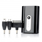 Multi-Functional Portable External 5200mAh Battery for iPhone 4 / 4S / Samsung - Black