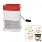 Home Kitchen Multifunction Hand-Cranked Vegetable Grater Shredder - White + Red