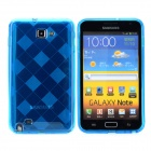 KS-P004 Protective TPU Back Case for Samsung i9220 - Translucent Blue