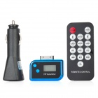 3-in-1 Car FM Transmitters w/ Remote Controller / Cigarette lighter Set - Black (CR1220 battery)