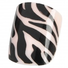 French Style Leopard Grain Pattern 24-in-1 Short Artificial Nails - Black + White