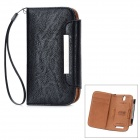 KALAIDENG Freshing Series Protective PU Ledertasche w / Card Slots für HTC T528T - Black
