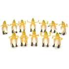 Bad Banana Man Cartoon Figure Toy - Yellow (12 PCS)
