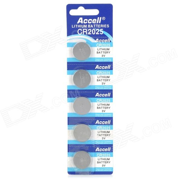 Accell Disposable 180mAh Li-ion Button Batteries (5 PCS) goop cr2025 3v lithium cell button batteries 5 x 10 pcs