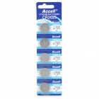 Accell Disposable 180mAh Li-ion Button Batteries (5 PCS)