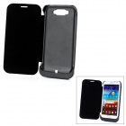 External 3600mAh Emergency Power Battery w/ PU Leather Case for Samsung Galaxy Note 2 N7100 - Black