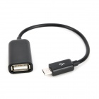 S-K07 Micro USB Male to USB Female OTG Data Charging Cable - Black