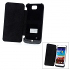 External 4000mAh Polymer Battery w/ Case / Stand for Samsung Galaxy Note 2 / N7100 - Black