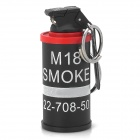 822 Key Ring AN-M18 Smoke Grenade Replica Shaped Butane Jet Lighter - Black + Red