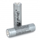 "UltraFire Rechargeable ""900mAh"" 14500 Li-ion Batteries w/ PCB Protected Board - Grey (2 PCS)"