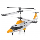 Udi U801 Rechargeable 3-CH IR Remote Control R/C Helicopter - Yellow + White
