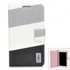 Protective PU Leather Case for Samsung Galaxy Note 2 N7100 - Grey + White + Black