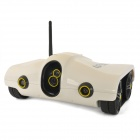 Cool Chi Iphone / Ipad IOS Controlled 2-CH Wireless Spy Rover Tank w/ 300KP Camera - White (6 x AA)