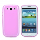 Protective TPU Case w/ Screen Protector for Samsung i9300 Galaxy S3 - Translucent Pink