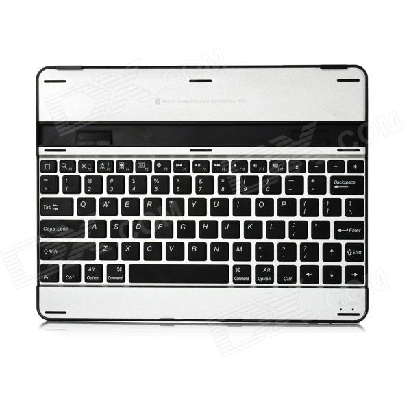 Ultra-Thin Aluminum Alloy Wireless Bluetooth v3.0 82-Key Keyboard for Ipad - Black + Silver