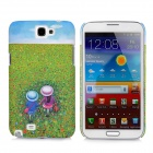 Protective Noctilucent Plastic Case for Samsung Galaxy Note 2 N7100 - Green + Blue