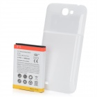 "Ersatz 3,7 ""4800mAh"" Extended Battery w / Battery Cover für Samsung Galaxy Note N7100 2 - White"