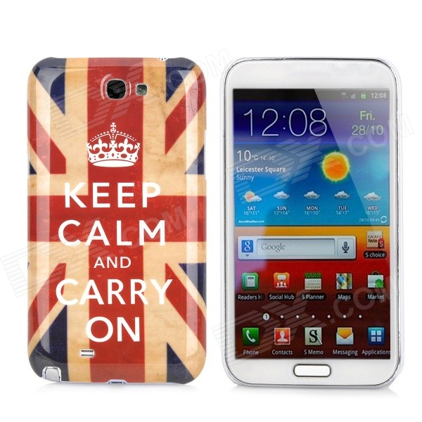 UK National Flag Pattern Protective Plastic Case for Samsung Galaxy Note 2 N7100 nillkin protective plastic back case w screen protector for samsung galaxy note 2 n7100 yellow