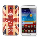 UK National Flag Pattern Protective Plastic Case for Samsung Galaxy Note 2 N7100