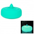LEJI Creative Water-Drop Sound Smart Switch USB 4-LED Night Light Lamp - Green