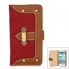 Protective PU Leather Case for Samsung i9300 Galaxy S3 - Red + Brown