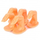 Nail Art Practice Artificial Finger for Manicure Training - Light Orange (5 PCS)