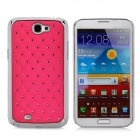 Protective Plastic Case for Samsung Galaxy Note 2 N7100 - Deep Pink