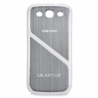 Protective Wiredrawing Metal + Plastic Case for Samsung i9300 Galaxy S3 - Silver + White