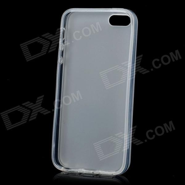 Hotsion i5-05 Protective Silicone Back Cover Case for Iphone 5 - Translucent White