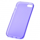 Hotsion i5-05 Protective Silicone Back Cover Case for Iphone 5 - Translucent Purple
