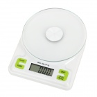 "Electronic 1.9"" LCD Digital Kitchen / Medical Material Scale - White + Green (5kg / 1g / 2 x AAA)"