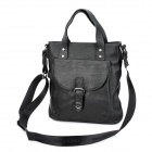GearBand 2-in-1 Cow Leather Men's Handbag / Shoulder Bag for 10~11'' Laptop - Black