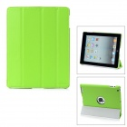 Hotsion ID-04 Protective 4-Section Folding PU Leather Case for iPad 2 / New iPad / 4 - Green