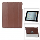 Hotsion Id-04 Protective PU Leather Cover w/ Back Case for iPad 2 - Brown