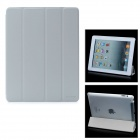 Hotsion Id-01 Protective PU Leather Cover w/ Back Case for iPad 2 / The New iPad - Grey