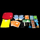 Cror CS-N-019A Professional Car Emergency Safety 14-in-1 First Aid Bag - Red