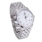 OLIPAI JT7031-S-SW Waterproof Stainless Steel Self-Winding Mechanical Wrist Watch - Silver + White